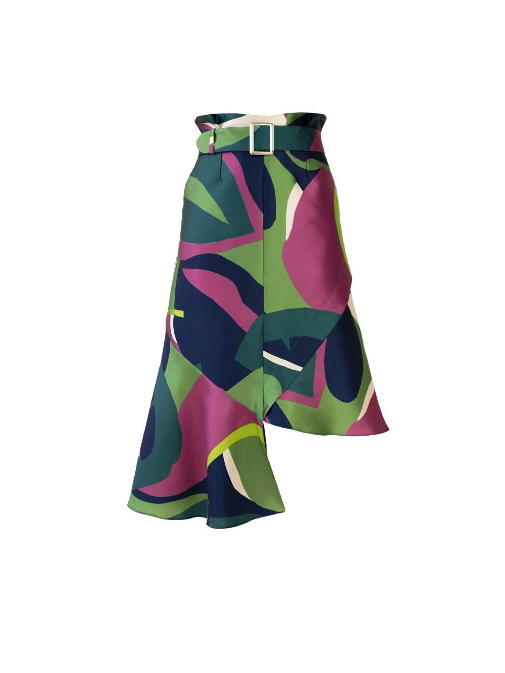 Floral-print  asymmetric skirt | S.O.L.I.T.A.R.Y