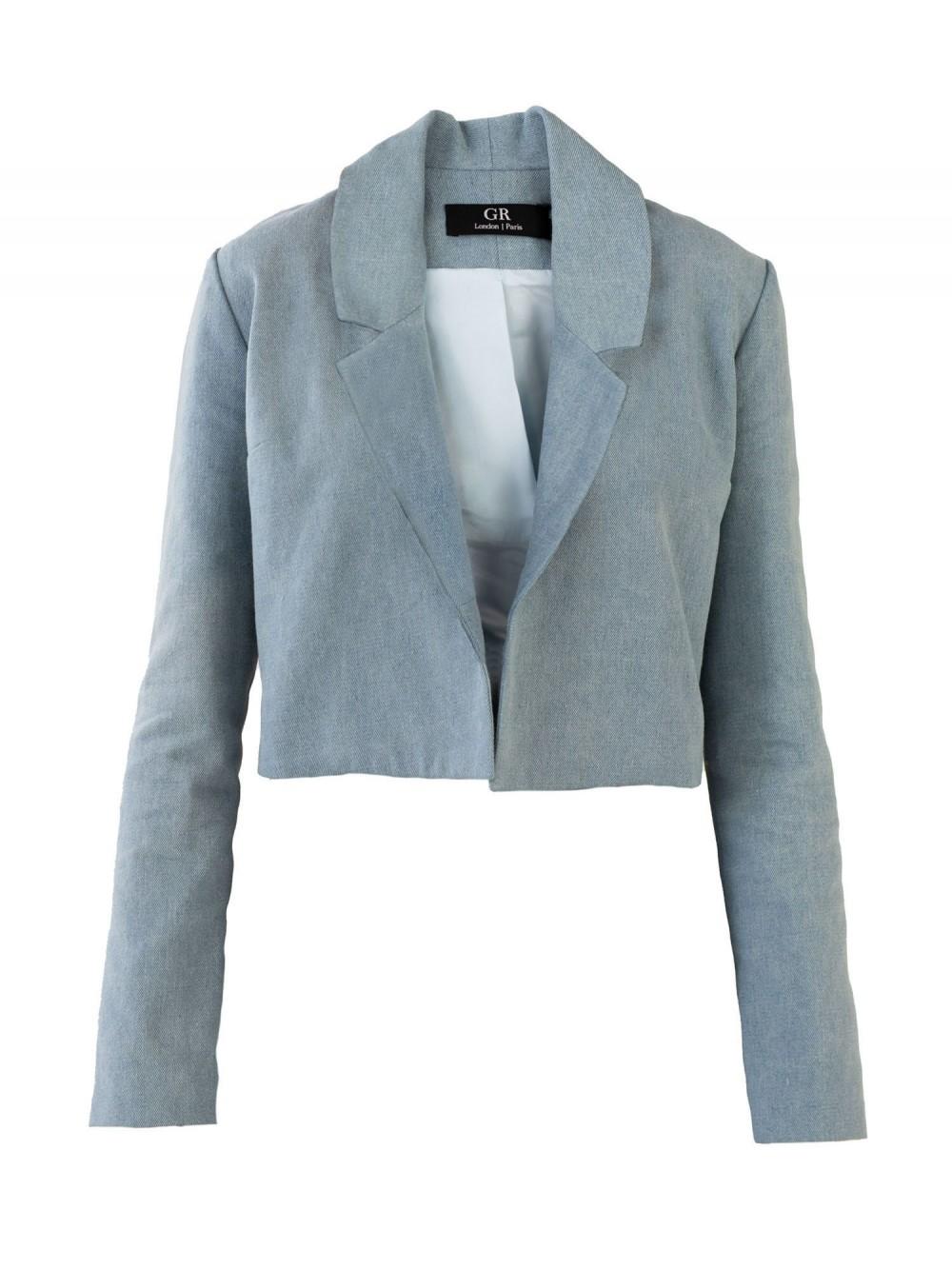 Cropped Denim Jacket | L.O.N.E.L.Y