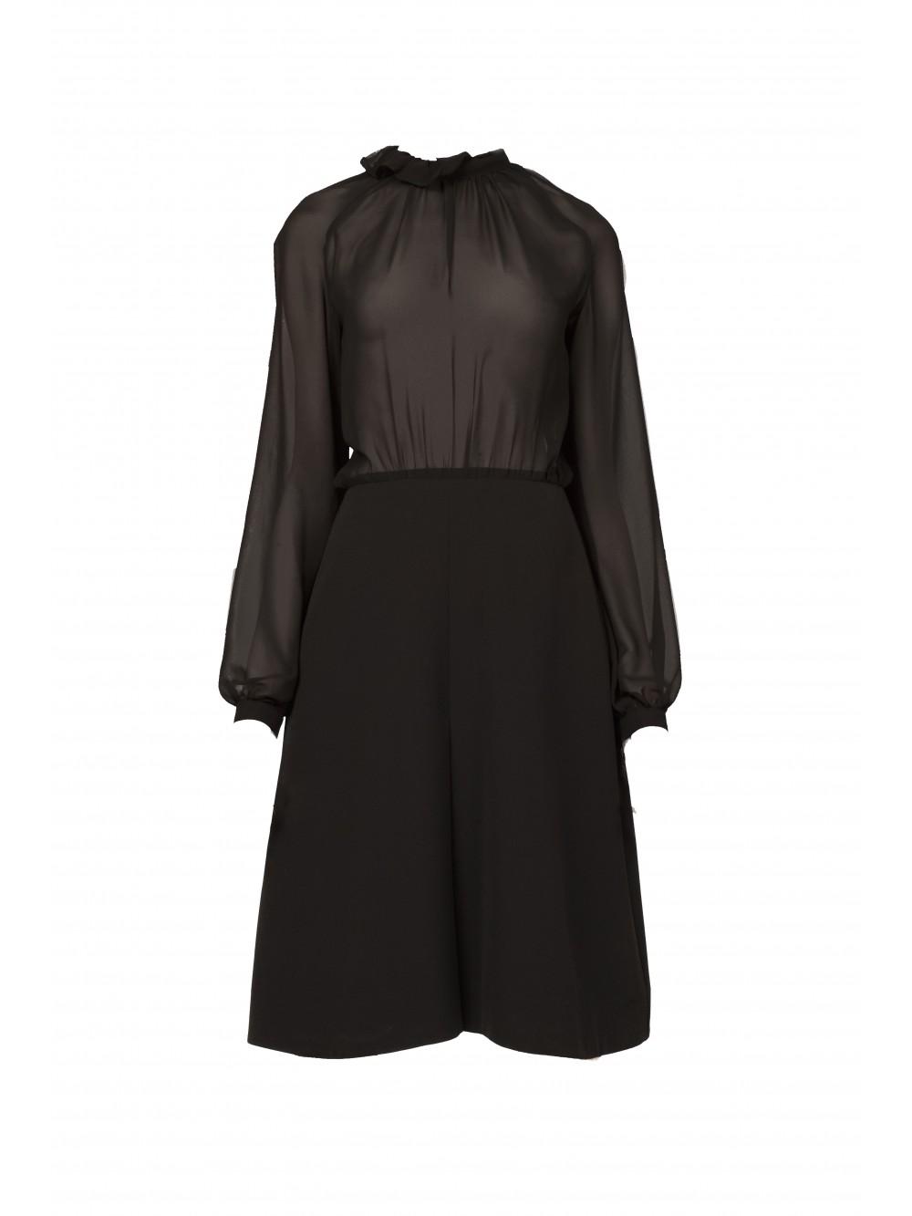Timeless  black Georgette dress | Felicity
