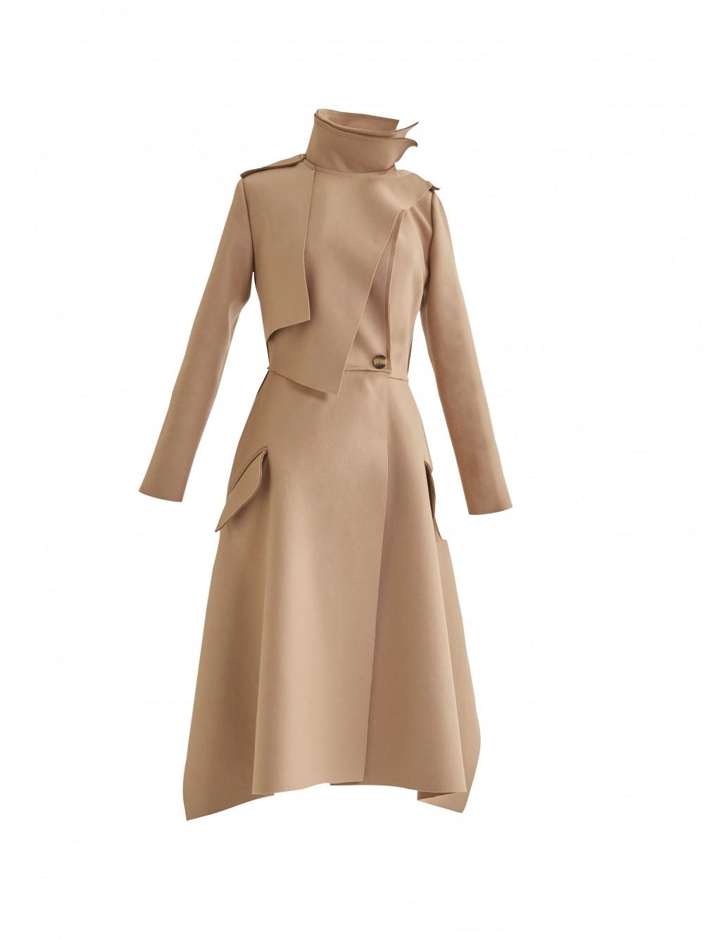 Layered trench coat    Populi-sta