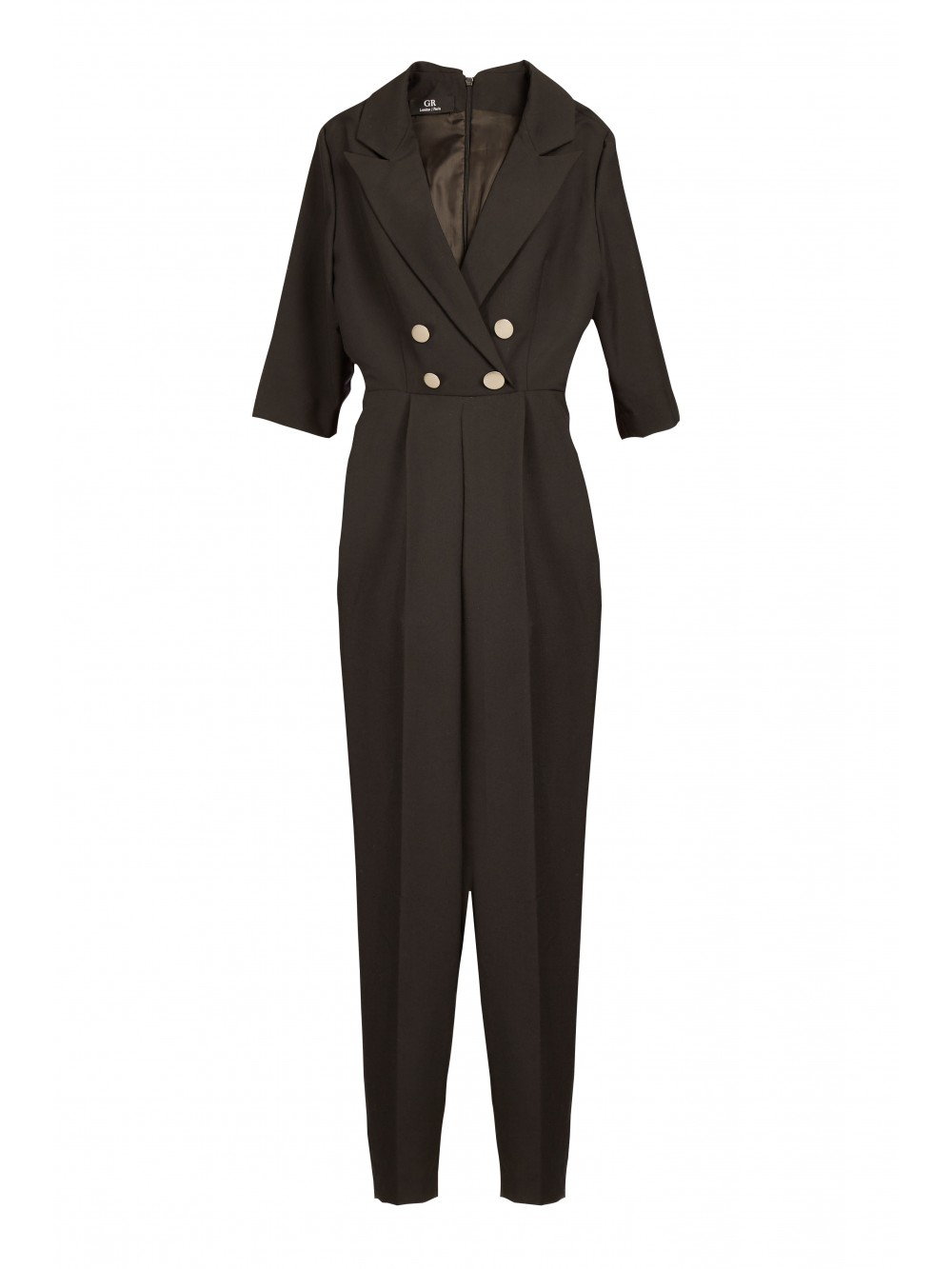 Double-breasted wool jumpsuit | Patience