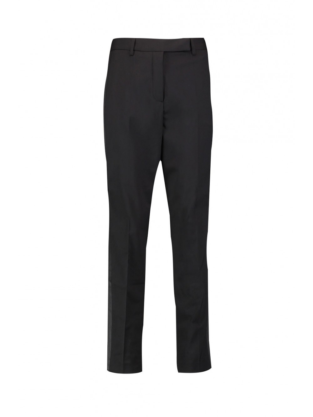 Matching satin trimmed blazer with split sleeves trousers | Isild