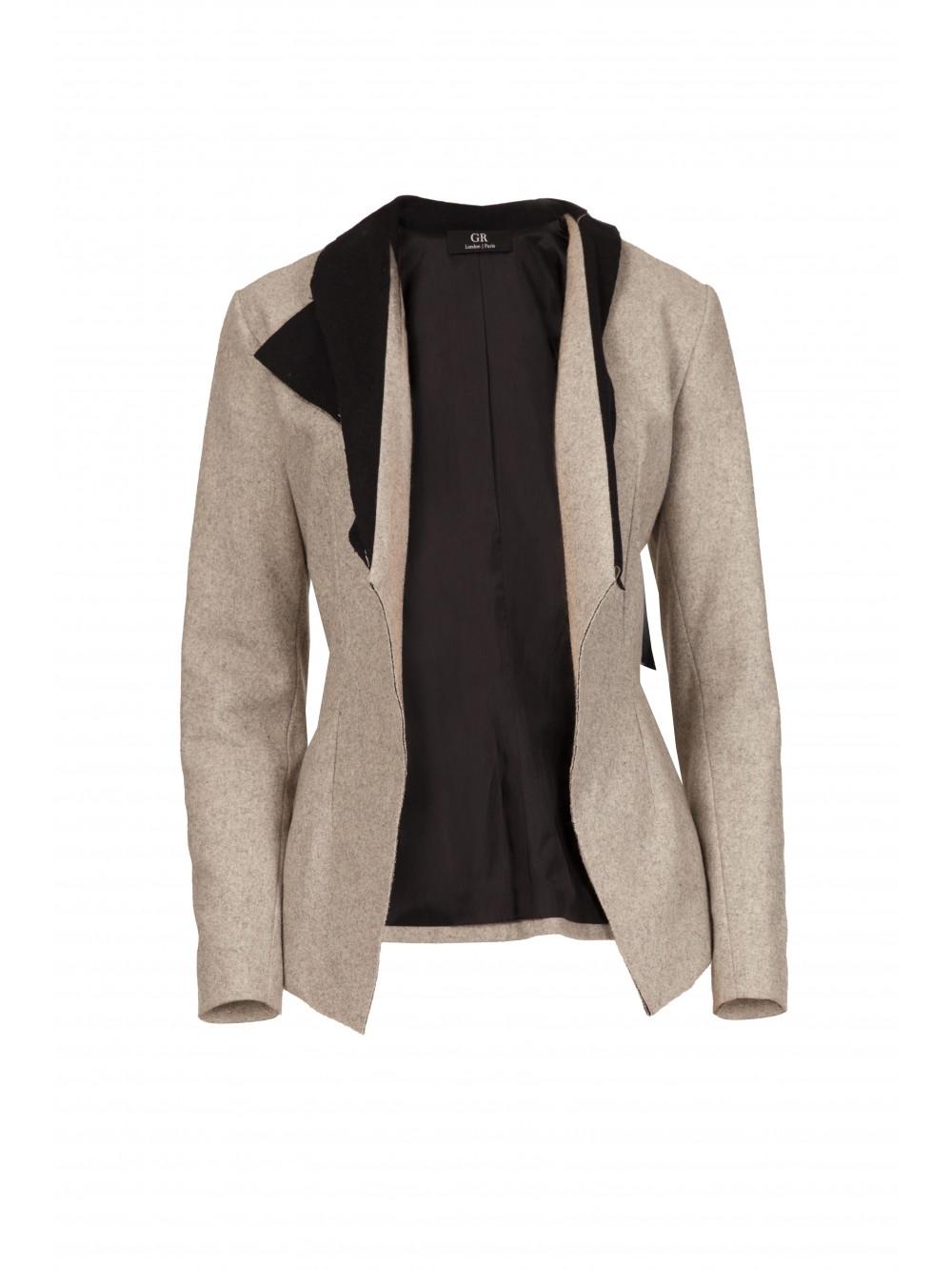 Raw Collars Suit Blazer   Rebecca