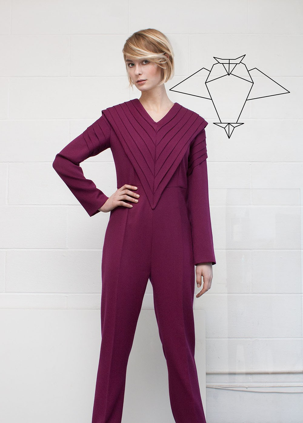 Pleated Jumpsuit | Toudjal