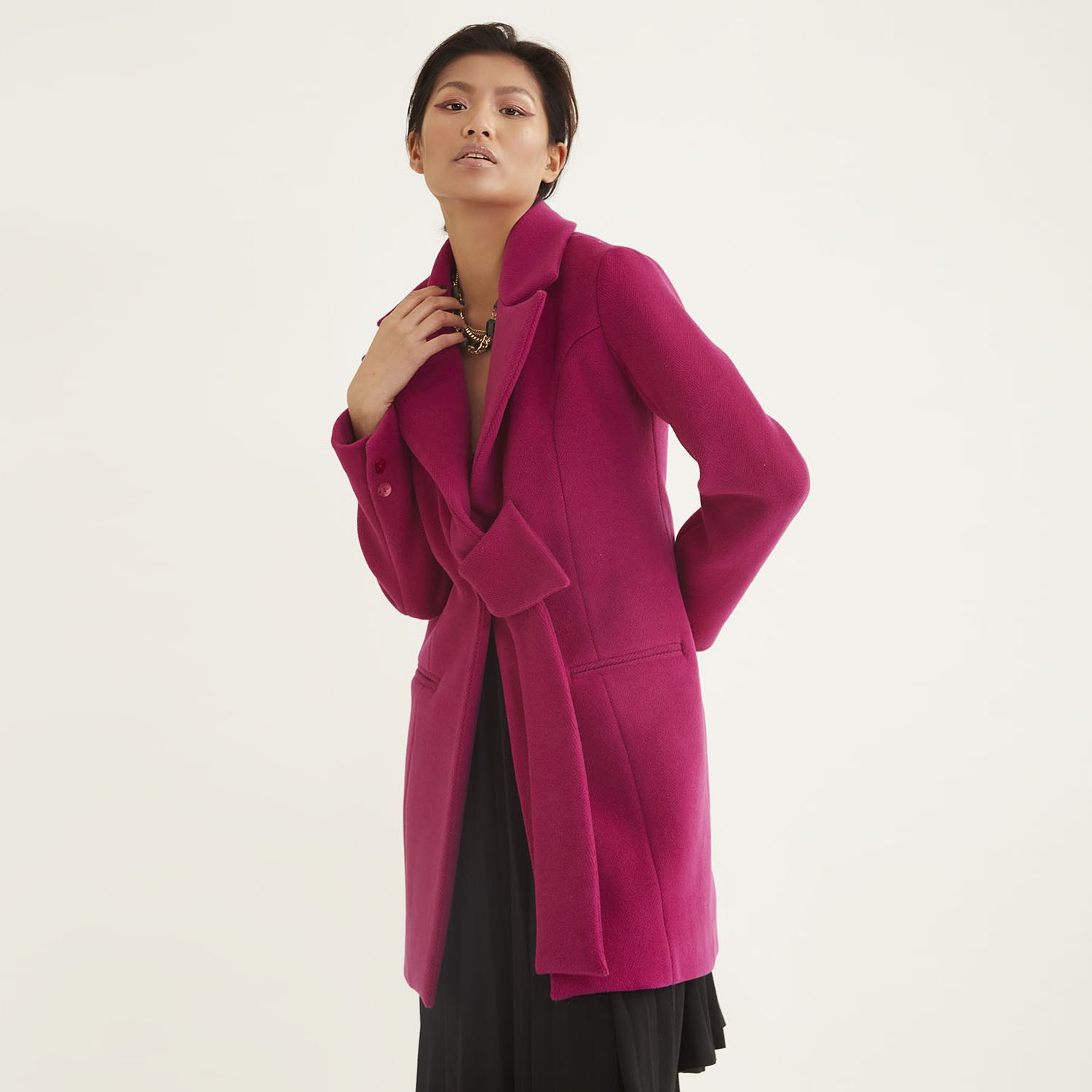 Single breasted belted coat |  Fanati-sta