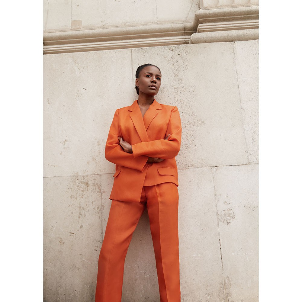 Oversized asymmetric suit with matching trousers I Joy