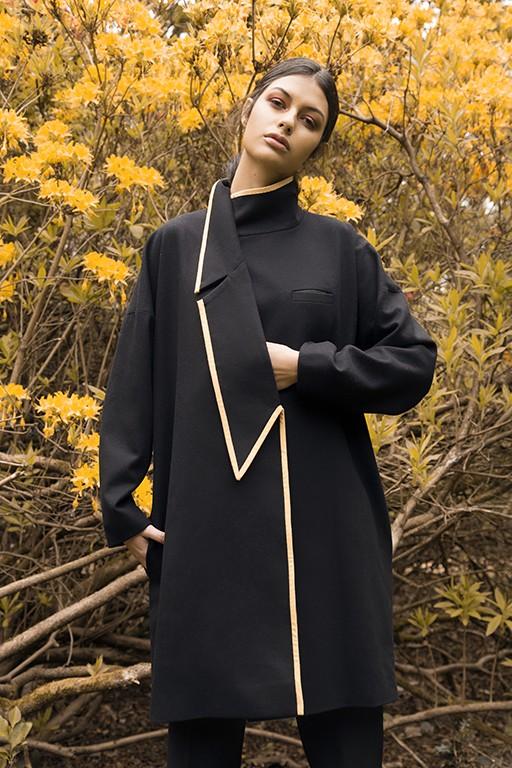 Asymmetric A-Line oversized coat | Jeanne