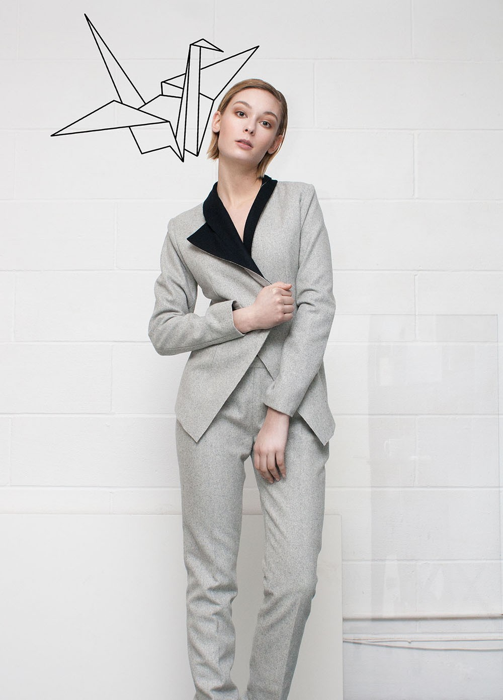 Raw Collars Suit Blazer  and his pant| Rebecca