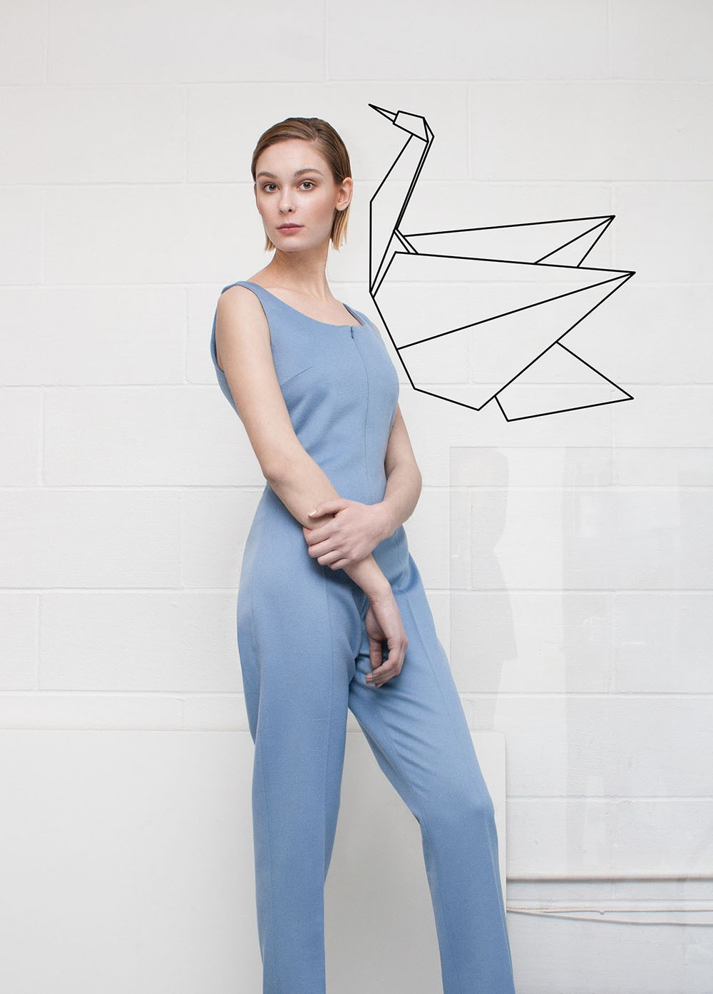 Zippered Jumpsuit | Neloumta