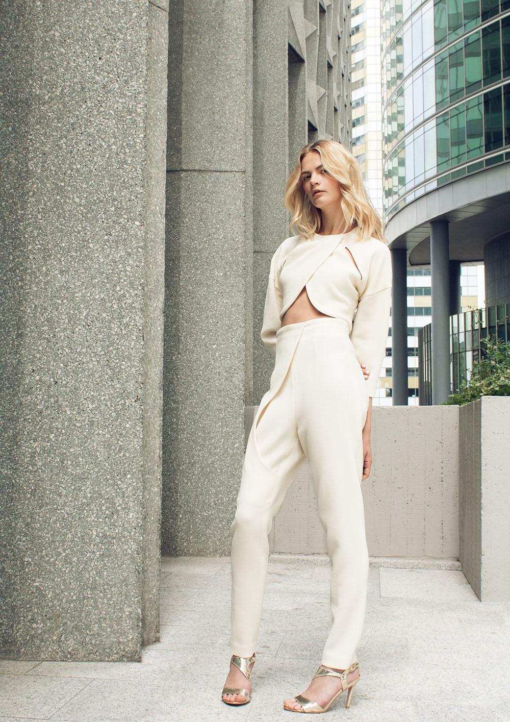 Crepe cropped Blazer I Futuristic high waist pant | Canonie